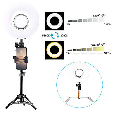 Neewer Ring Light Kit 8-inch Dimmable Mini LED Ring Light with 3.5-inch Mirror