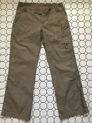 The North Face Hiking Cargo Pants Convertible Roll Up Khaki Women's Size 8
