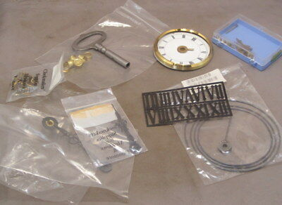 MISCELLANEOUS CLOCK PARTS as detailed