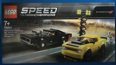 LEGO SPEED CHAMPIONS DODGE CHARGER AND DODGE CHALLENGER SET 75893 NEW IN BOX uk