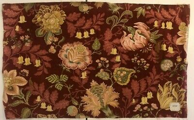 Beautiful Late 19th or Early 20th c. French Cotton Velvet Fabric (3041)