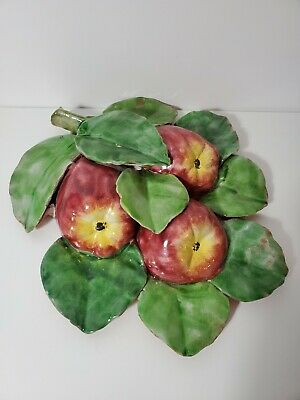 Apple and Lemon Bunch Clay Wall Hanging Made In Italy For Vietri Inc