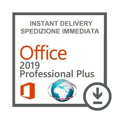 Microsoft Office 2019 Professional Plus Licenza Key 32/64bit