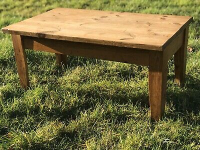 Small Oblong Pine Coffee Table Shabby Chic Upcycle Project