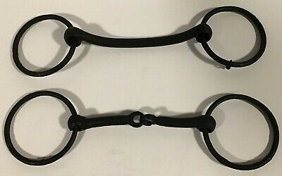 Vintage Cast Iron Horse Bridle bit & Snaffle bit with rings harness parts