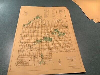 Vintage 1973 Tuscola County Michigan DNR Highway Recreation Information Map