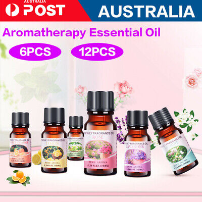 6/12x Essential Oils 100% Pure & Natural Aromatherapy Diffuser Essential Oil Set