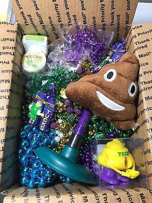 Krewe of Tucks 2020 Mardi Gras Bead Box-Signature Beads & Throws- Ships Free