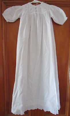 Antique CHRISTENING GOWN / DRESS - Cotton, Lace & Broderie Anglaise