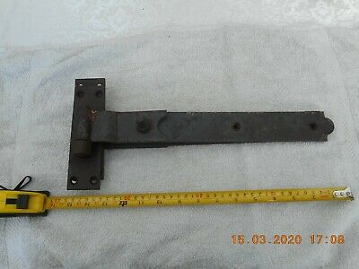 "Rustic rusty wrought iron Vintage Gate / Barn / garage Door Hinges 15"" OVER 2kg"