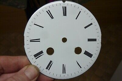 "Useful Antique French Clock 4"" Enamel Dial- (Cw)"