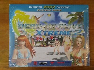 Dead or Alive Xtreme 2 Calendar 2007 with Pin-Up Poster - New & Sealed - RARE