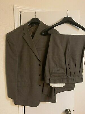 Stafford Mens Suit 48L 40 X 32 Beige (worn a few times)