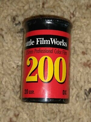 New Sealed Roll Of 35mm Film 200 Seattle Film Works