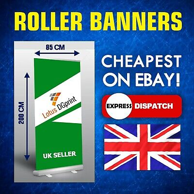 Roller Banner 85 x 200 cm Display Stand - Pull / Pop / Roll up sign Exhibition