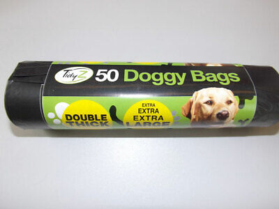 Dog Poo Bags Extra Large Strong Double Thick Puppy Poop Tie Handles Doggy Waste