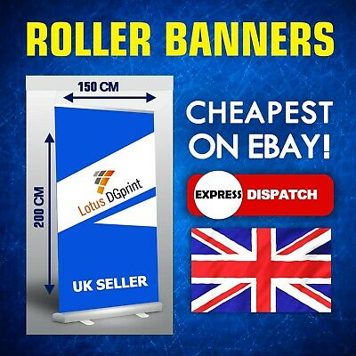 Extra Wide Roller Banner 150 x 200 cm Display Stand - Pull / Pop / Roll up sign
