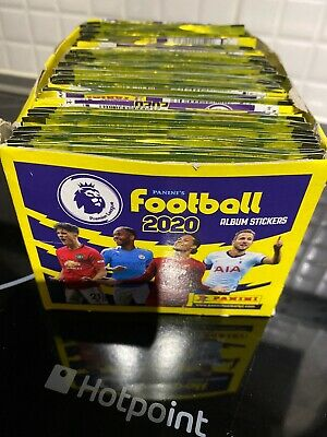 1 box of Panini  FOOTBALL 2020 Premier League Stickers 185 Packets