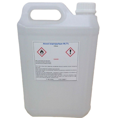 Alcool Isopropylique 99,7% 5 Litre  IPA Solvant Puissant 2-Propanol Isopropanol