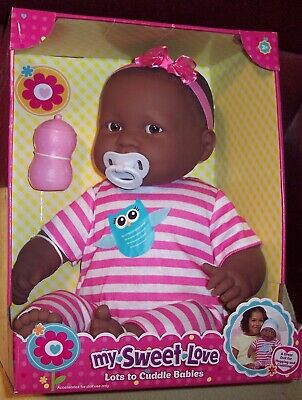 "NEW AA Ethnic Berenguer 20"" Lots To Cuddle Babies 2015 Baby Doll Curly Hair"