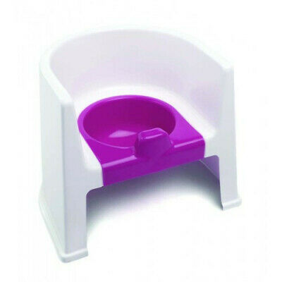 The Neat Nursery Baby Toddler Toilet Training Steady Potty Chair White/Pink New
