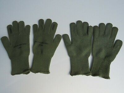 gloves military USMC green stretch liner rifle shooting grip cold weather Lot LG