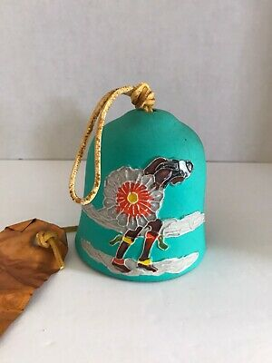 Vintage PACIFIC STONEWARE NATIVE AMERICAN INDIAN DANCER WIND BELL/WIND CHIME