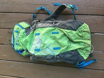 Eddie Bauer Backpack Bacon, Green and Blue, Used, Packable, first ascent