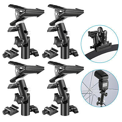 Neewer 4 Packs Photo Studio Heavy Duty Metal Clamp Holder and Cold Shoe Adapter