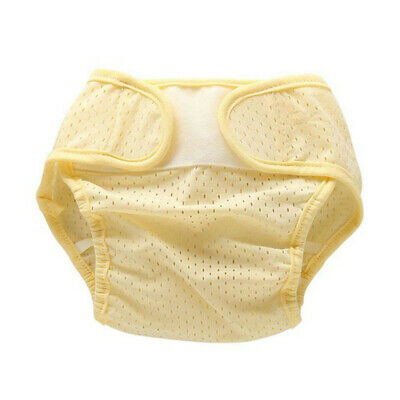 Baby Diapering Cloth Diapers Newborn Summer Breathable Ice Silk Washable Yellow
