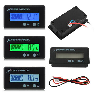 2x LCD 12-48V Battery Status Voltage Voltmeter Monitor Tester Meter Car Caravan