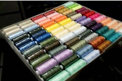 72 pc set of 500 yd Sewing Thread Cotton Strong High Quality Hand Machine Stitch