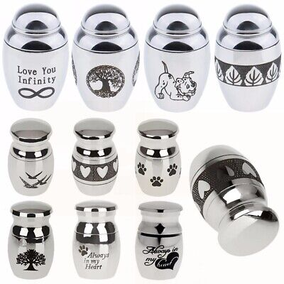 New Mini Urn For Ashes Cremation Memorial Container Jar Stainless Steel