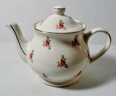 Windsor by Sadler England SMALL TEAPOT Pink Roses MINT