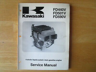 Kawasaki FD440V FD501V FD590V 4 Stroke V Twin Gasoline Engine Service Manual
