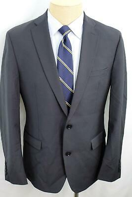 NWOT 42R Bar III Slim Fit Stretch Black Dual Vent Wool Sport Coat Blazer MA0