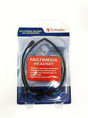 Verbatim Collapsible Multimedia Headset with Microphone