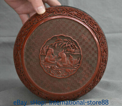 """6.8"""" Marked Old China Lacquerware Dynasty Mandarin Duck Flower Jewelry box"""