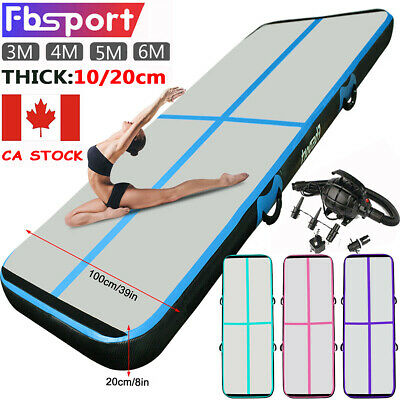 3-6m 10/20cm Airtrack Inflatable Air Track Floor Gymnastics Tumbling GYM Mat CA