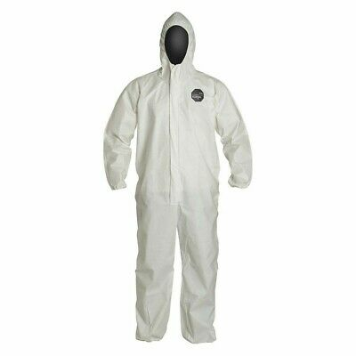 NG127SWHMD0025NP Hooded Disposable Coveralls with Elastic Cuff, ProShield