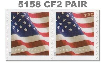 5158 (CF2) Pair Postal Counterfeit US Forever Flag Design of 2017 MNH - Buy Now