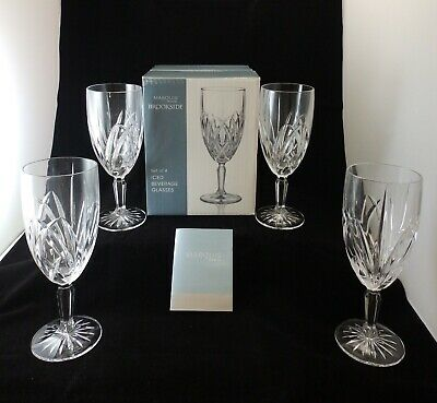 Marquis by Waterford Brookside Set - 4 Crystal All Purpose Iced Beverage Glasses