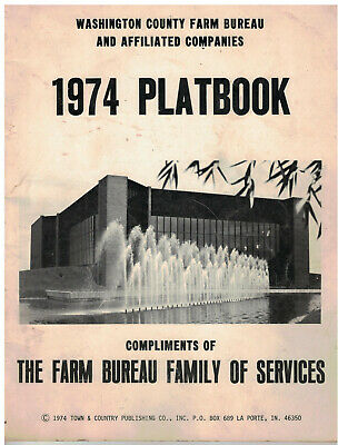 1974 Washington  County Wisconsin Plat Book & Directory