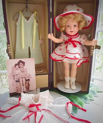 "Vintage 1930s Ideal Shirley Temple 13"" Composition ""Curly Top"" Doll Trunk Set"