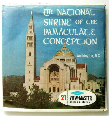 3x VIEW MASTER REEL ⭐ The NATIONAL SHRINE of IMMACULATE CONCEPTION ⭐ WASHINGTON