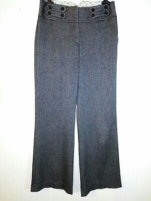 """Dorothy Perkins Grey Trousers With Pockets Size 10 VGC leg 30"""""""