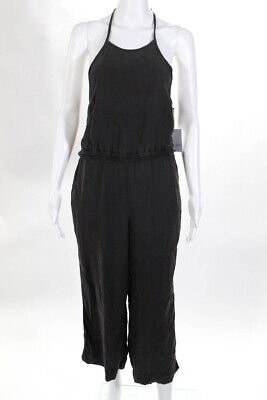 Bella Dahl Womens Cropped Halter Jumpsuit Brown Size Extra Small