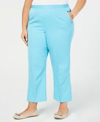 Alfred Dunner Women's Pants Electric Blue Size 18W Plus Elastic Stretch $42 #099