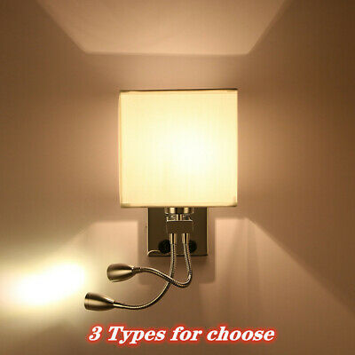 White Adjustable Head Swing Arm Wall Lamps Reading Lights Lighting Fixtures