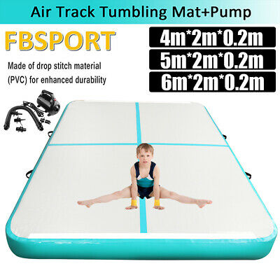 3-8m*2m*0.2m  Airtrack Inflatable Air Track Home Floor Tumbling Mat with Pump US